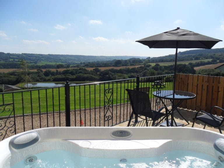 Willow cottage hot tub