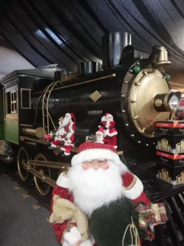 Santa train at Combe garden Centre
