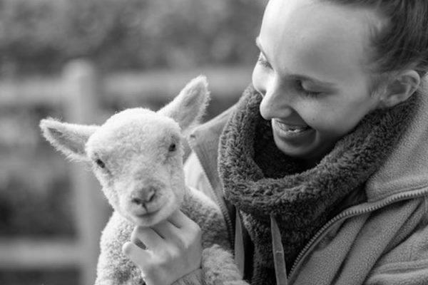 Bryony and April the lamb