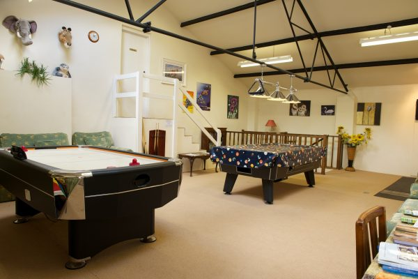 Games room at Odle Farm